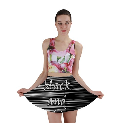 I love black and white Mini Skirt