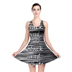 I Love Black And White Reversible Skater Dress