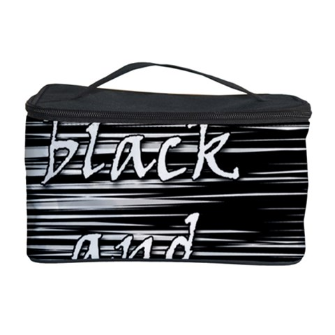 I love black and white Cosmetic Storage Case