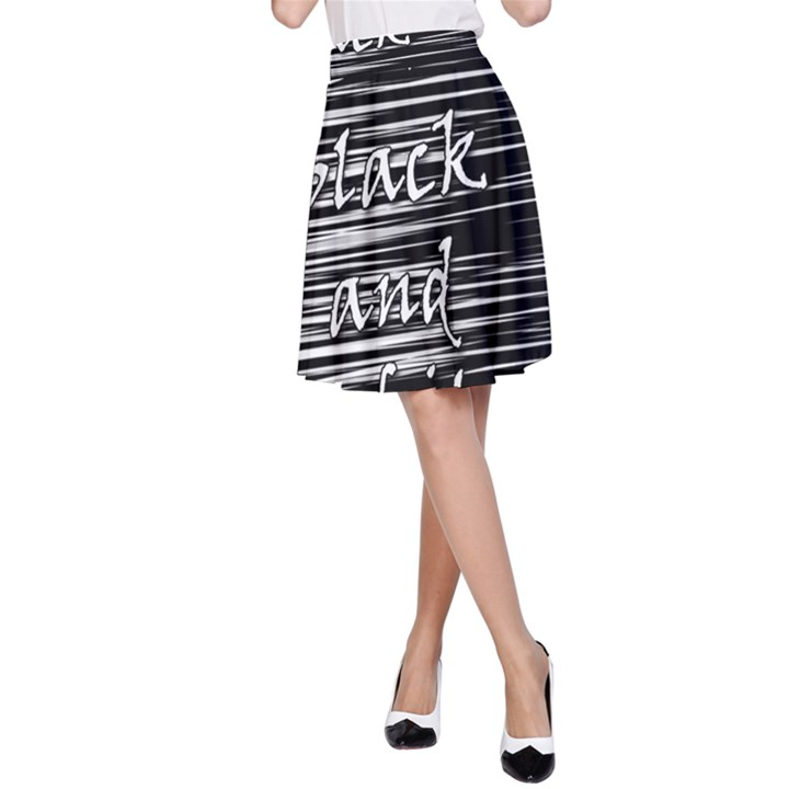 I love black and white A-Line Skirt