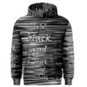 I love black and white Men s Pullover Hoodie View1