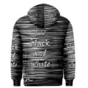 I love black and white Men s Pullover Hoodie View2
