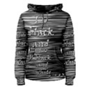 I love black and white Women s Pullover Hoodie View1