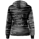 I love black and white Women s Pullover Hoodie View2
