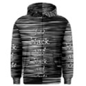 I love black and white Men s Zipper Hoodie View1