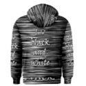 I love black and white Men s Zipper Hoodie View2