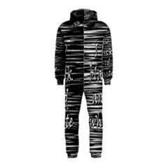 I Love Black And White Hooded Jumpsuit (kids)