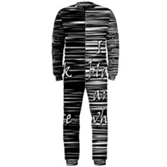 I love black and white OnePiece Jumpsuit (Men)