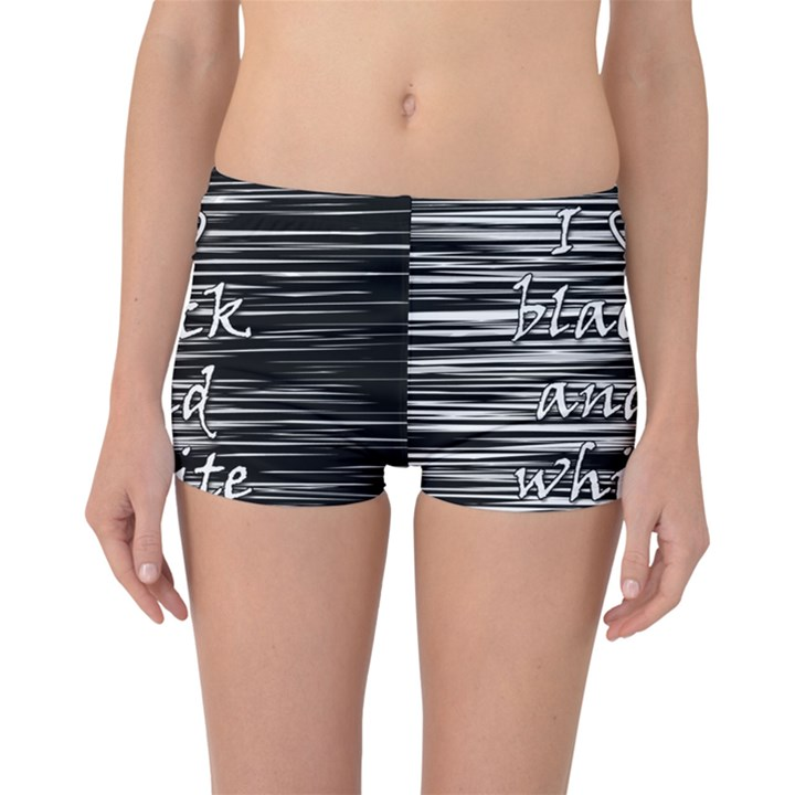 I love black and white Boyleg Bikini Bottoms