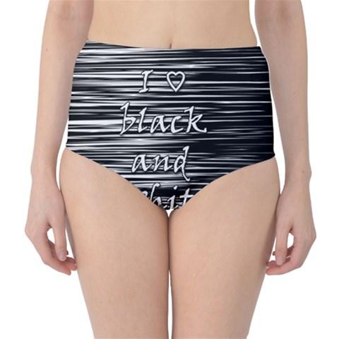 I love black and white High-Waist Bikini Bottoms
