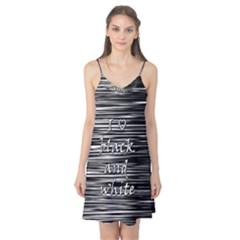 I love black and white Camis Nightgown