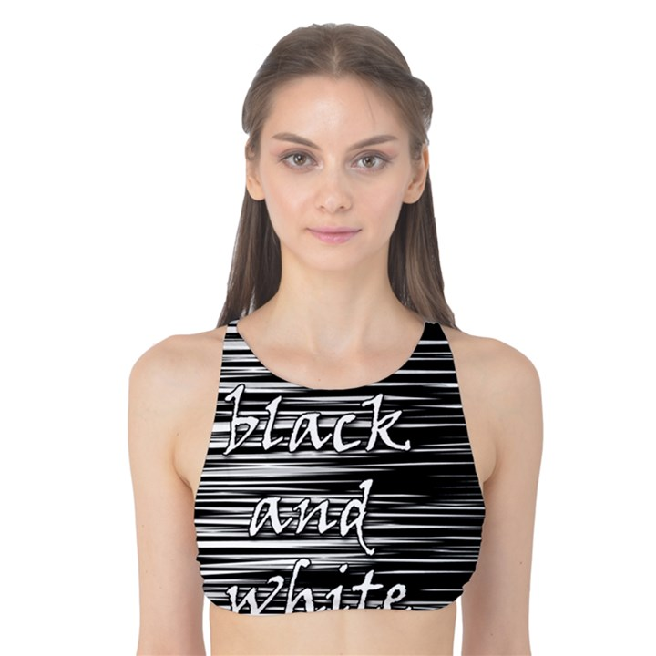 I love black and white Tank Bikini Top