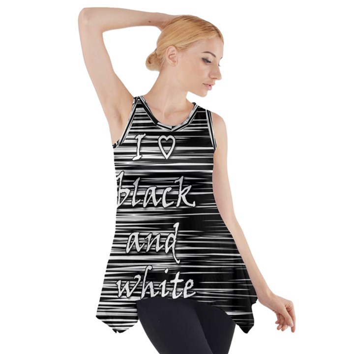 I love black and white Side Drop Tank Tunic