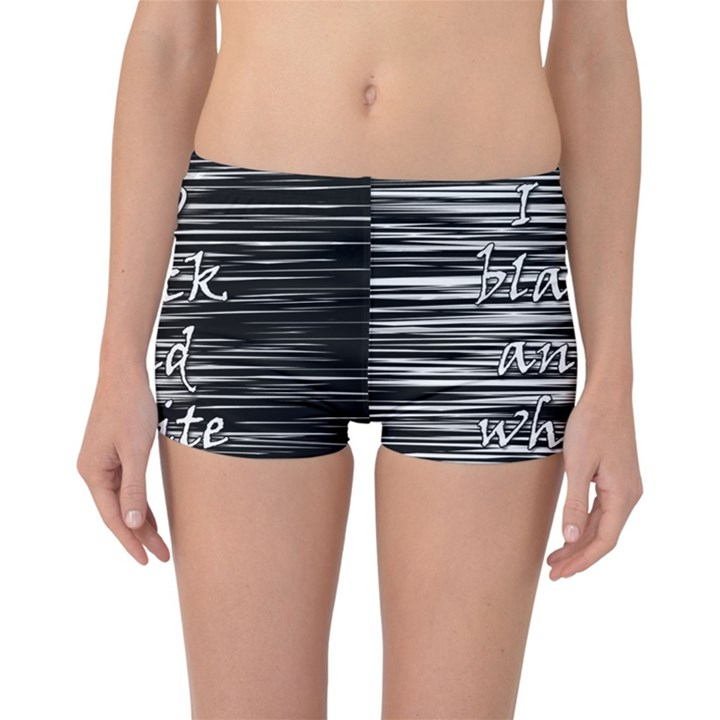 I love black and white Reversible Boyleg Bikini Bottoms