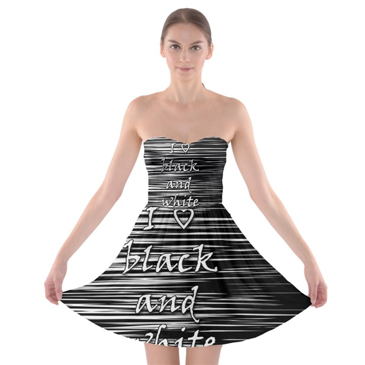 I love black and white Strapless Bra Top Dress
