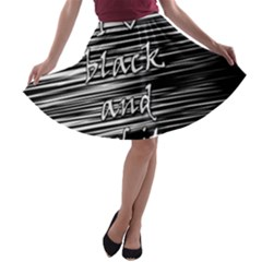 I love black and white A-line Skater Skirt