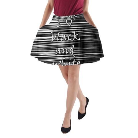 I love black and white A-Line Pocket Skirt