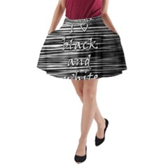 I love black and white A-Line Pocket Skirt