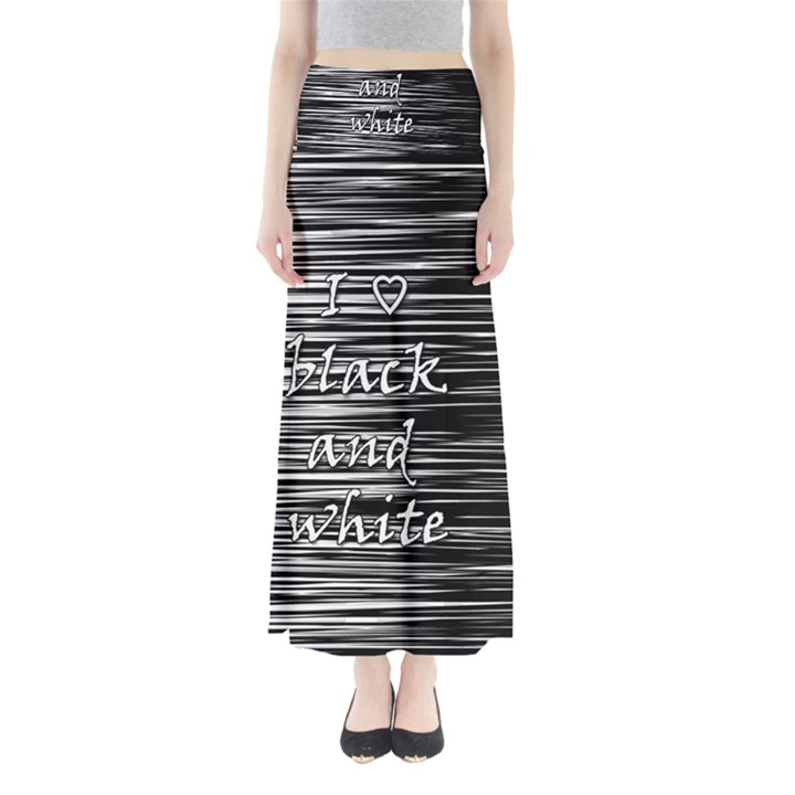 I love black and white Maxi Skirts