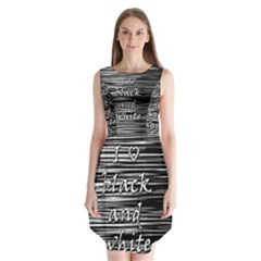 I love black and white Sleeveless Chiffon Dress