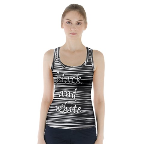 I love black and white Racer Back Sports Top