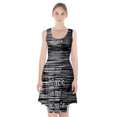 I love black and white Racerback Midi Dress