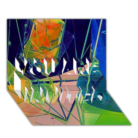 New Form Technology YOU ARE INVITED 3D Greeting Card (7x5)