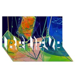 New Form Technology BELIEVE 3D Greeting Card (8x4)