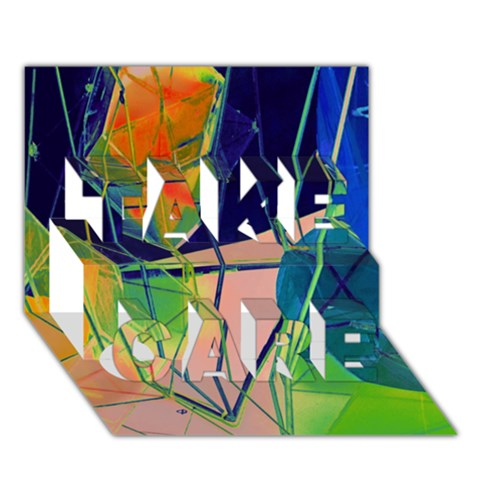 New Form Technology TAKE CARE 3D Greeting Card (7x5)