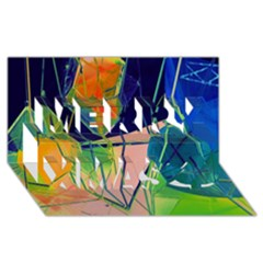 New Form Technology Merry Xmas 3D Greeting Card (8x4)