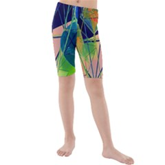 New Form Technology Kids  Mid Length Swim Shorts