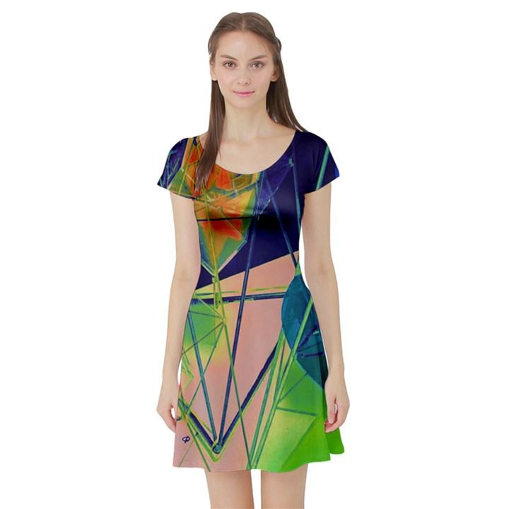 New Form Technology Short Sleeve Skater Dress