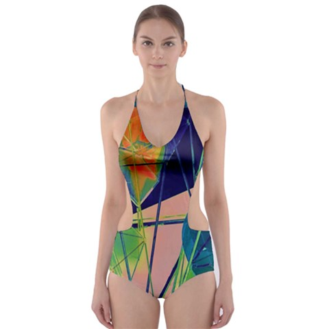 New Form Technology Cut-Out One Piece Swimsuit