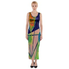 New Form Technology Fitted Maxi Dress