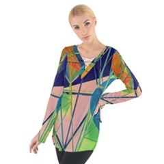 New Form Technology Women s Tie Up Tee