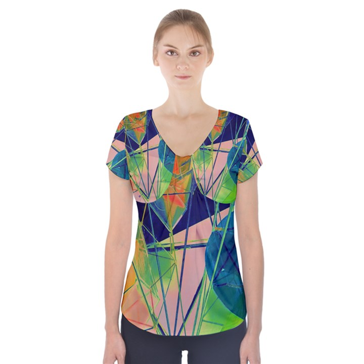 New Form Technology Short Sleeve Front Detail Top