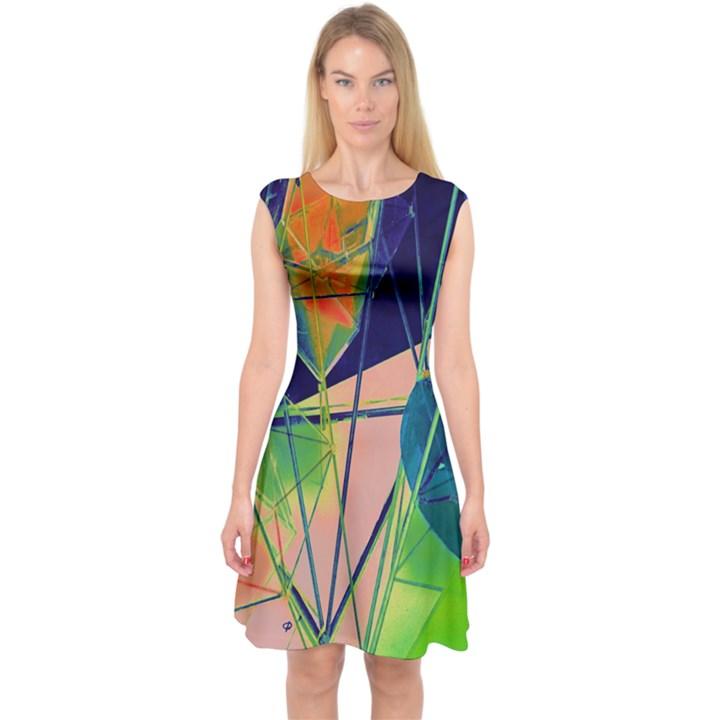New Form Technology Capsleeve Midi Dress