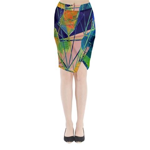 New Form Technology Midi Wrap Pencil Skirt