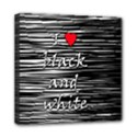 I love black and white 2 Mini Canvas 8  x 8  View1