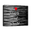 I love black and white 2 Canvas 10  x 8  View1