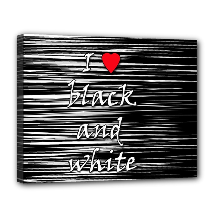 I love black and white 2 Canvas 14  x 11