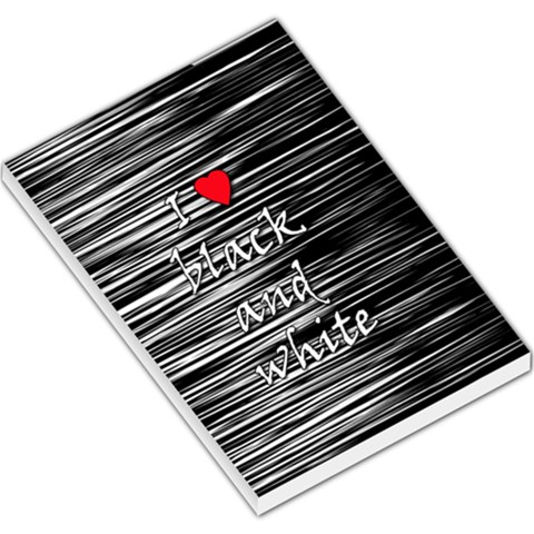 I love black and white 2 Large Memo Pads
