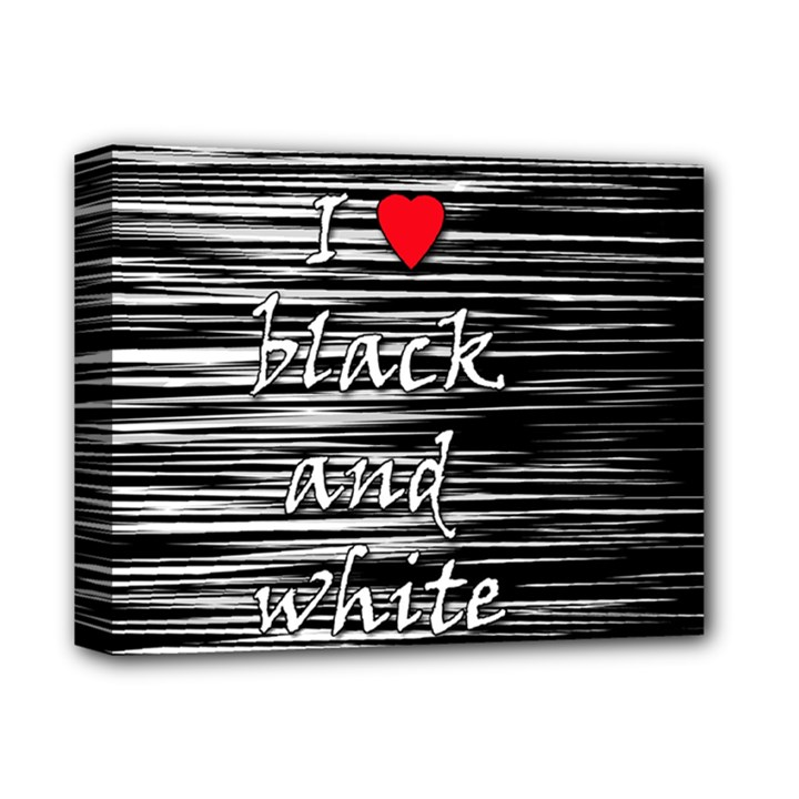 I love black and white 2 Deluxe Canvas 14  x 11