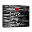 I love black and white 2 Deluxe Canvas 20  x 16   View1