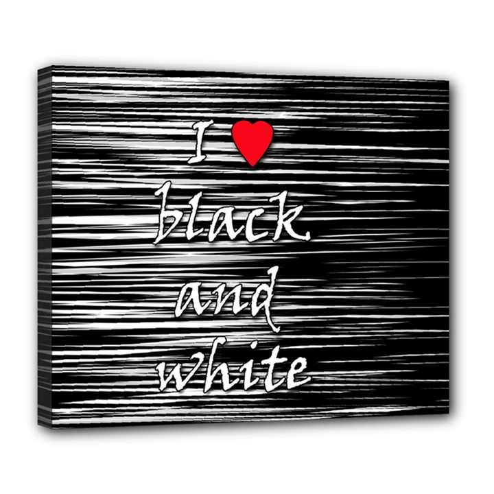 I love black and white 2 Deluxe Canvas 24  x 20