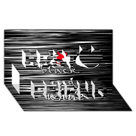 I love black and white 2 Best Friends 3D Greeting Card (8x4)