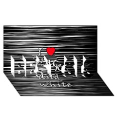 I love black and white 2 BEST SIS 3D Greeting Card (8x4)