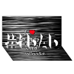 I Love Black And White 2 #1 Dad 3d Greeting Card (8x4)