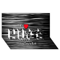 I love black and white 2 HUGS 3D Greeting Card (8x4)