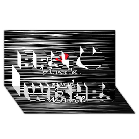 I love black and white 2 Best Wish 3D Greeting Card (8x4)